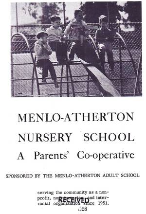 Front page of school brochure from 1968
